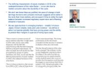 2019 Equities Outlook