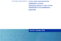 A euro area macroeconomic stabilisation function: assessing options in view of their redistribution and stabilisation properties