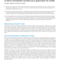 A merry Christmas rounds out a good year for credit