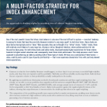 A Multi-Factor Strategy for Index Enhancement