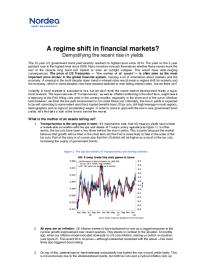 A regime shift in financial markets?
