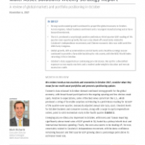 A review of global markets and portfolio positioning in October