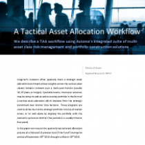 A Tactical Asset Allocation Workflow