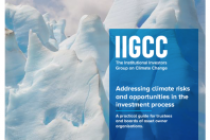 Addressing climate risks and opportunities in the investment process