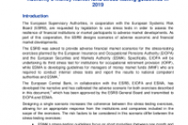 Adverse scenario for the European Insurance and Occupational Pensions Authority's EU-wide pension fund stress test and for the European Securities and Markets Authority's money market fund stress-testing guidelines in 2019