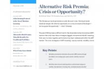 Alternative Risk Premia: Crisis or Opportunity?