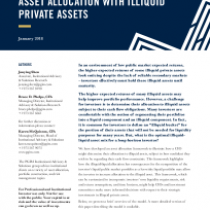 Asset Allocation With Illiquid Private Assets