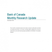 Bank of Canada Monthly Research Update