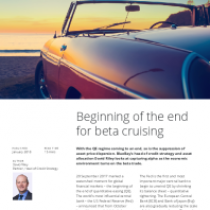 Beginning of the end for beta cruising