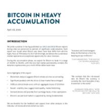 Bitcoin In Heavy Accumulation