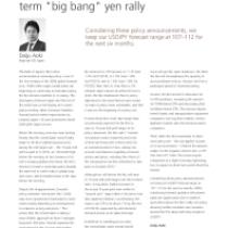 "BoJ cuts chances for mediumterm ""big bang"" yen rally"