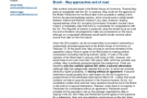 Brexit – May approaches end of road