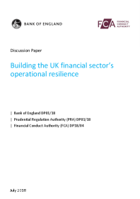Building the UK financial sector's operational resilience