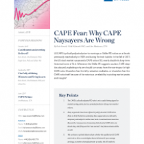 CAPE Fear: Why CAPE Naysayers Are Wrong