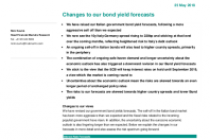 Changes to our bond yield forecasts