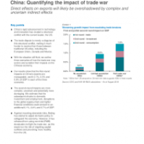 China: Quantifying the impact of trade war