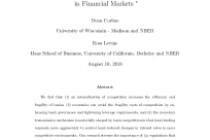 Competition, Stability, and Efficiency in Financial Markets
