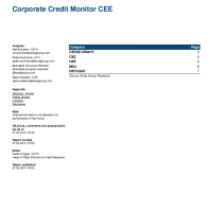 Corporate Credit Monitor CEE