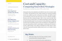 Cost and Capacity: Comparing Smart Beta Strategies