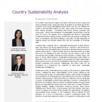 Country Sustainability Analysis