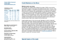 Credit Markets on the Move