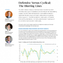 Defensive Versus Cyclical: The Blurring Lines