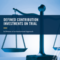 Defined Contribution Investments On Trial