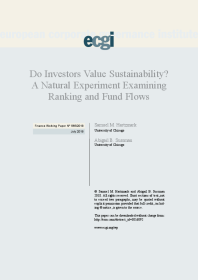 Do Investors Value Sustainability? A Natural Experiment Examining Ranking and Fund Flows