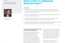 Do valuations offer an entry point to emerging markets debt?