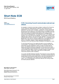 ECB's Governing Council communicates wait-and-see attitude