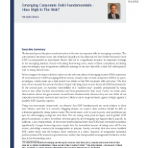 Emerging Corporate Debt Fundamentals – How High Is The Risk?