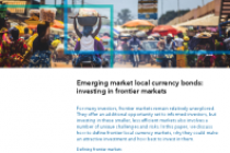 Emerging market local currency bonds: investing in frontier markets