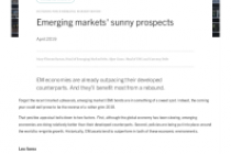 Emerging markets' sunny prospects