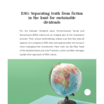 ESG: Separating truth from fiction in the hunt for sustainable dividends