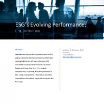 ESG's Evolving Performance: First, Do No Harm