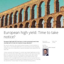 European high yield: Time to take notice?