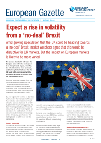 Expect a rise in volatility from a 'no-deal' Brexit