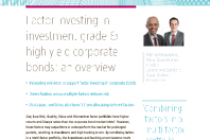 Factor Investing in investment grade high Yield corporate bonds