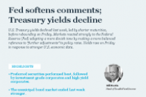 Fed softens comments; Treasury yields decline