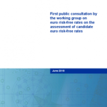 First public consultation by the working group on euro risk-free rates on the assessment of candidate euro risk-free rates