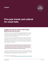 Five-year trends and outlook for smart beta