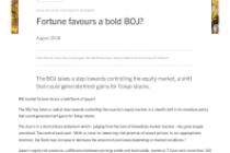 Fortune favours a bold BOJ?