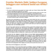 Frontier Markets Debt: hebben Europese beleggers een verkeerd beeld van Afrika?