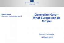 Generation €uro – What Europe can do for you