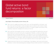 Global active bond fund returns: a factor decomposition