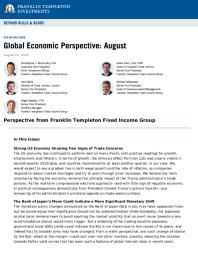 Global Economic perspective
