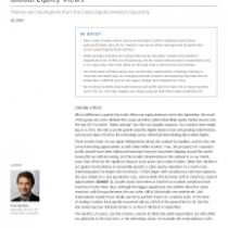 Global Equity Views 1Q 2019