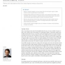 Global Equity Views 2Q 2019