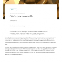 Gold's precious mettle