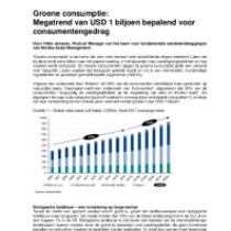 Groene consumptie: Megatrend van USD 1 biljoen bepalend voor consumentengedrag
